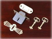 真鍮製バタフライキーロックセット/ロールトップデスク用 80×37