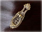 真鍮製 ワードローブターンハンドル キーホール(鍵穴)付き96サイズ