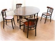 アンティークカフェテーブル&チェア5点セット