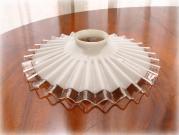 ミルクガラス ウェーブエッジランプシェード
