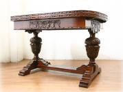 スーパークオリティ グレープバルボスオークドローリーフテーブル