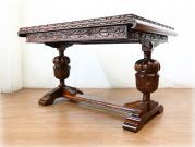 スーパークオリティ ヘビーオーク バルボスドローリーフテーブル