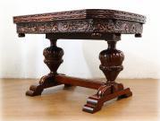 スーパークオリティ カーブドオーク バルボスドローリーフテーブル