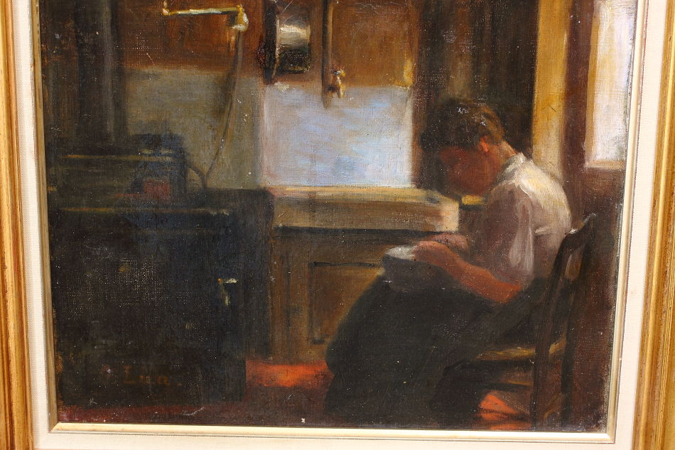 Woman in Interior / Oil Painting