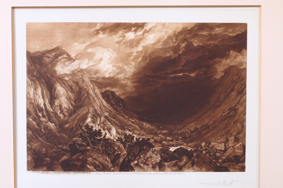 Ben Arthur, Scotland / Etching and mezzotint