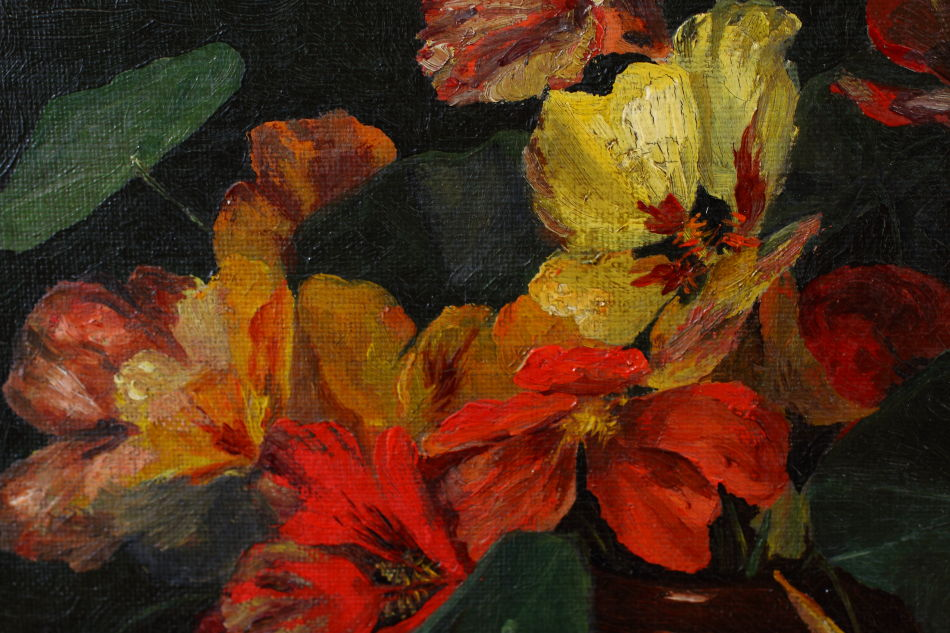 Flowers in a Vase  / Oil Painting