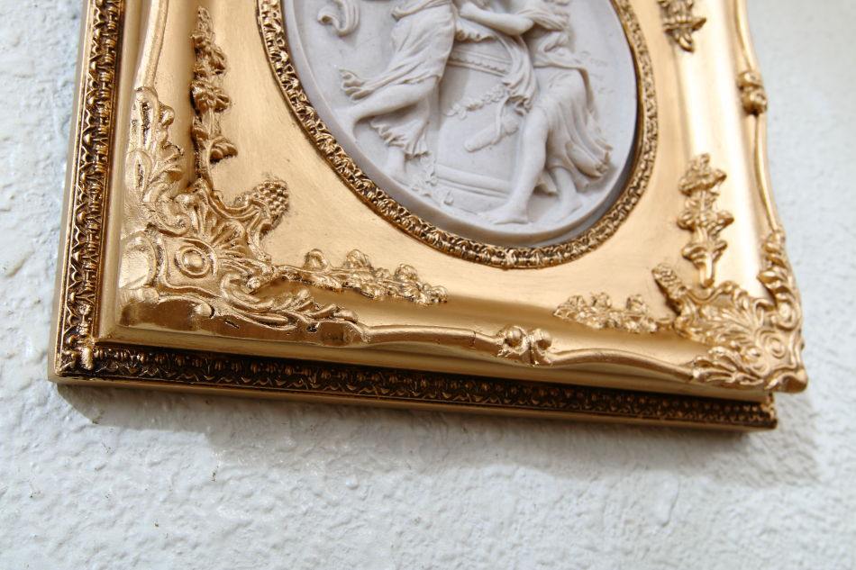 Two Woman And A Child / plaque picture
