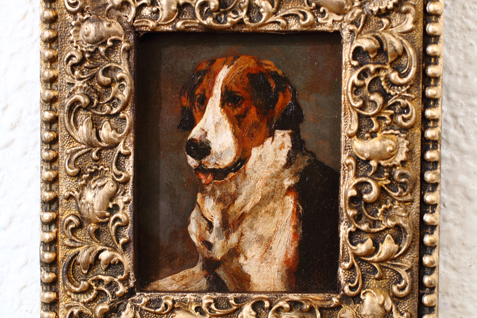 Portrait of a English Foxhound / Oil Painting