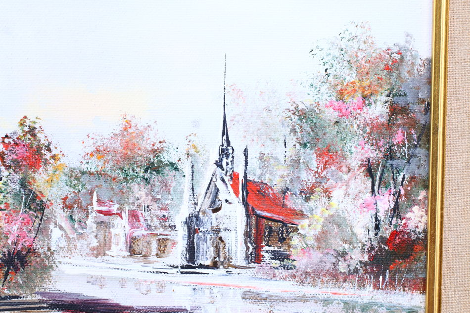 Chapel of Saint-Malo Quebec / Oil Painting