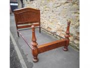 Victorian walnut three Quarter bed
