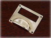 真鍮製カードフレーム付き ドロワープルハンドル