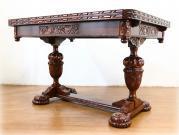トップクオリティ カーブドオーク バルボスドローリーフテーブル